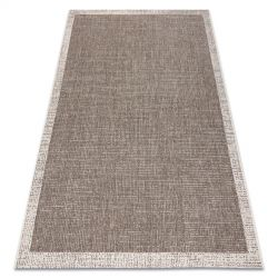 CARPET SIZAL FLOORLUX 20401 Frame taupe / champagne