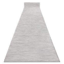 Běhoun SIZAL PATIO model 2778 ploché tkaní, jednotný, šedá