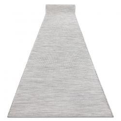 Plochý tkaný běžec SIZAL PATIO jednotný design 2778 šedá