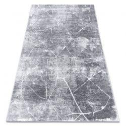 модерен MEFE килим 2783 мрамор - structural две нива на руно тъмно сив