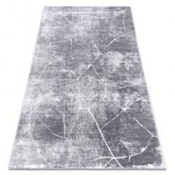 Modern carpet MEFE 2783 Marble - structural two levels of fleece dark grey
