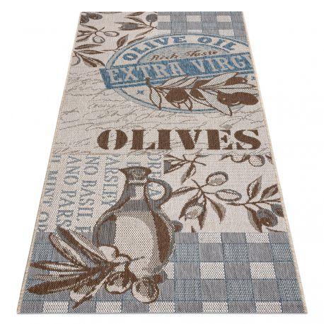 Teppich für die Küche, Läufer COLOR 19211063 SISAL beige / grau