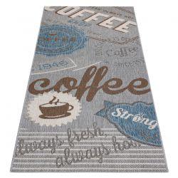 Teppich für die Küche, Läufer COLOR 19212053 SISAL grau / beige