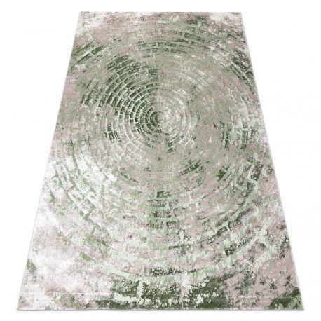 Teppich OPERA 0W9790 C89 54 Kreise, Backstein, vintage - Structural zwei Ebenen aus Vlies elfenbein / grün