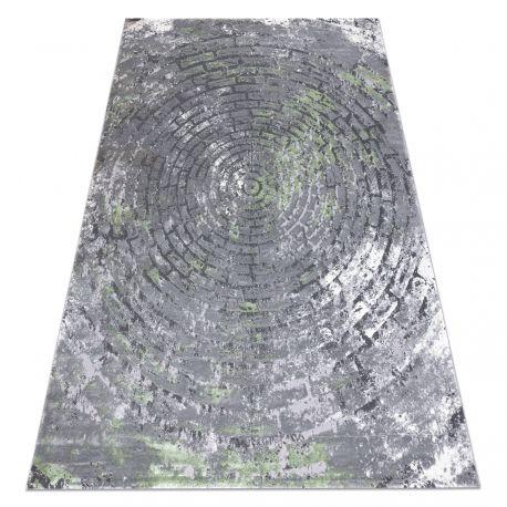 Koberec OPERA 0W9790 C90 54 Kruhy, Cihlový vintage - Structural dvě úrovně rouna šedá / zelená