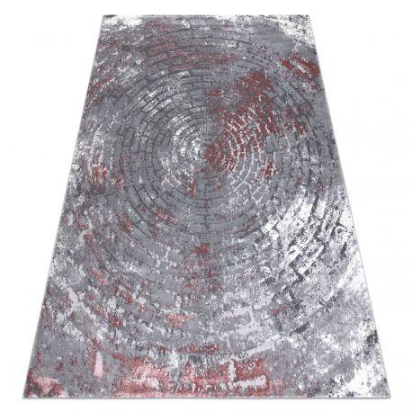 Dywan OPERA 0W9790 C90 58 Koła, Cegła, przecierany - Strukturalny, dwa poziomy runa szary / róż