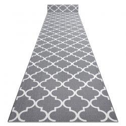 Alfombra de pasillo con refuerzo de goma Enrejado Trébol marroquí gris Trellis 30352