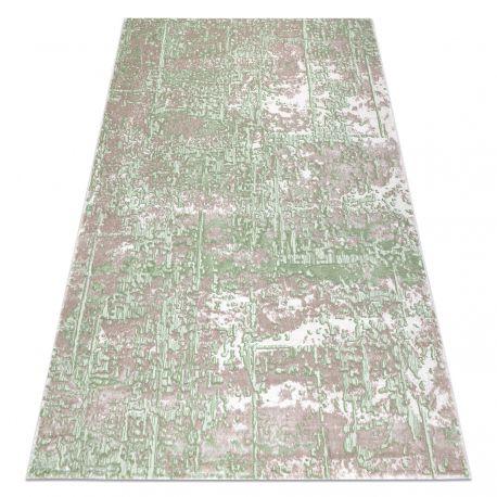 Dywan OPERA 0W9792 C89 57 Abstrakcja - Strukturalny, dwa poziomy runa beż / zielony