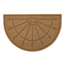 Doormat PATIO 1099 semicircle antislip, outdoor, indoor, gum - beige