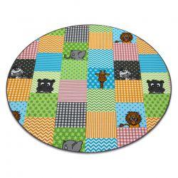 Dětský kulatý koberec ZOO zvířata