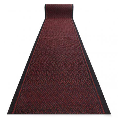 Zerbino antiscivolo per metri lineari 80 cm CORDOBA 3086 esterno, interno, su gomma rosso