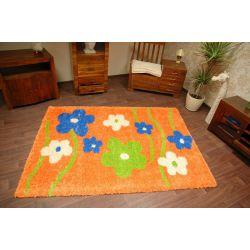 Teppich SHAGGY BLUMEN 095 orange