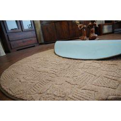 Carpet circle MESSINA 044 brown