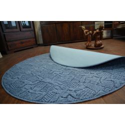 Carpet circle MESSINA 076 blue
