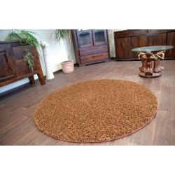 Carpet SHAGGY circle VALENTINO brown