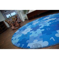 Килим дитячий PUZZLE синій колесо