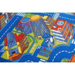 Alfombra infantil Carreteras BIG CITY azul