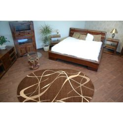 Teppich KARMEL oval CHOCO braun