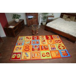 Teppich FRYZ TYPO mandarine