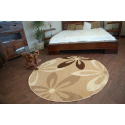 Carpet CARAMEL circle COCOA beige