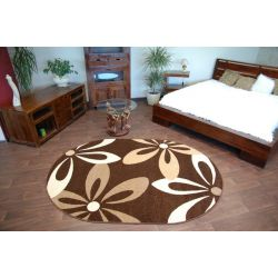 Carpet CARAMEL oval COCOA brown