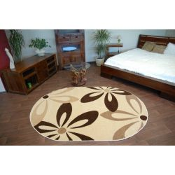 Teppich KARAMELL oval COCOA cremig