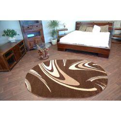 Teppich KARAMELL oval COFFEE braun
