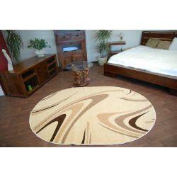 Teppich KARAMELL oval COFFEE cremig