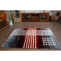 Teppich SHAGGY SYMFONIA 108 silber / rot