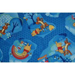 Passadeira carpete URSINHO PUFF WOODLAND azul