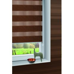 Roller blind ZEBRA 725 brown
