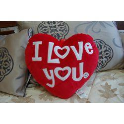 Подушка плюшева SERCE LOVE червона