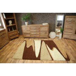 Alfombra SHAGGY LONG 4003 color chocolate