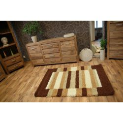 Alfombra SHAGGY LONG 4083 color chocolate