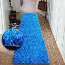 Runner SHAGGY 5cm blue