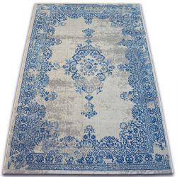 Dywan Vintage Rozeta 22206/063 niebieski / krem