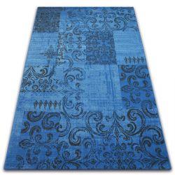 Dywan Vintage 22215/073 niebieski / szary patchwork