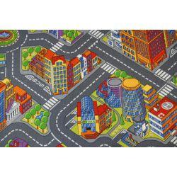 Utcák nagyváros gyermek szőnyeg