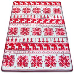 Carpet XMAS - F787 cream/red