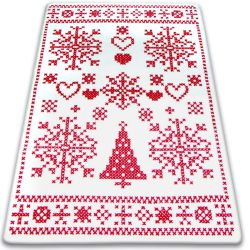 Carpet XMAS - F791 cream/red