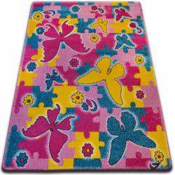 Teppich KIDS Schmetterling rosa C429