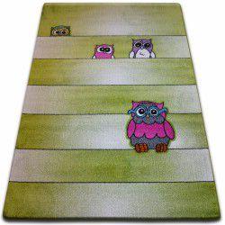 gyerekek szőnyeg Baglyok zöld C412