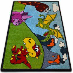 Carpet KIDS Dino green C417
