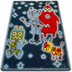 gyerekek szőnyeg Robotok fekete C419