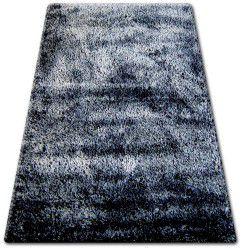 Килим SHAGGY NARIN P901 чорний кремовий+фіолетовий
