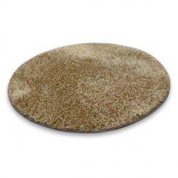 Shaggy narin szőnyeg kör P901 sötét bézs