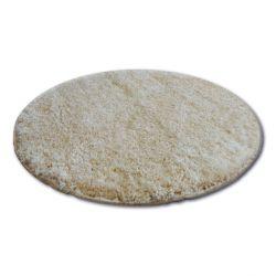 Shaggy narin szőnyeg kör P901 fokhagyma/arany Bézs
