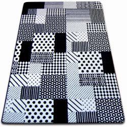 Килим SKETCH - F760 біло-чорний гриль