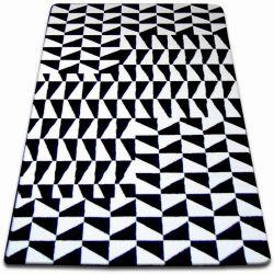 Sketch szőnyeg - F765 fehér/fekete- Rács