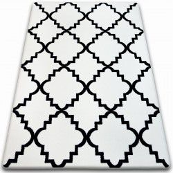 Carpet SKETCH - F343 white/black trellis
